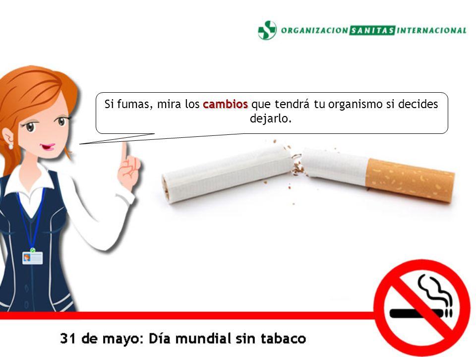 cambios Si fumas, mira los cambios que tendrá tu organismo si decides dejarlo.