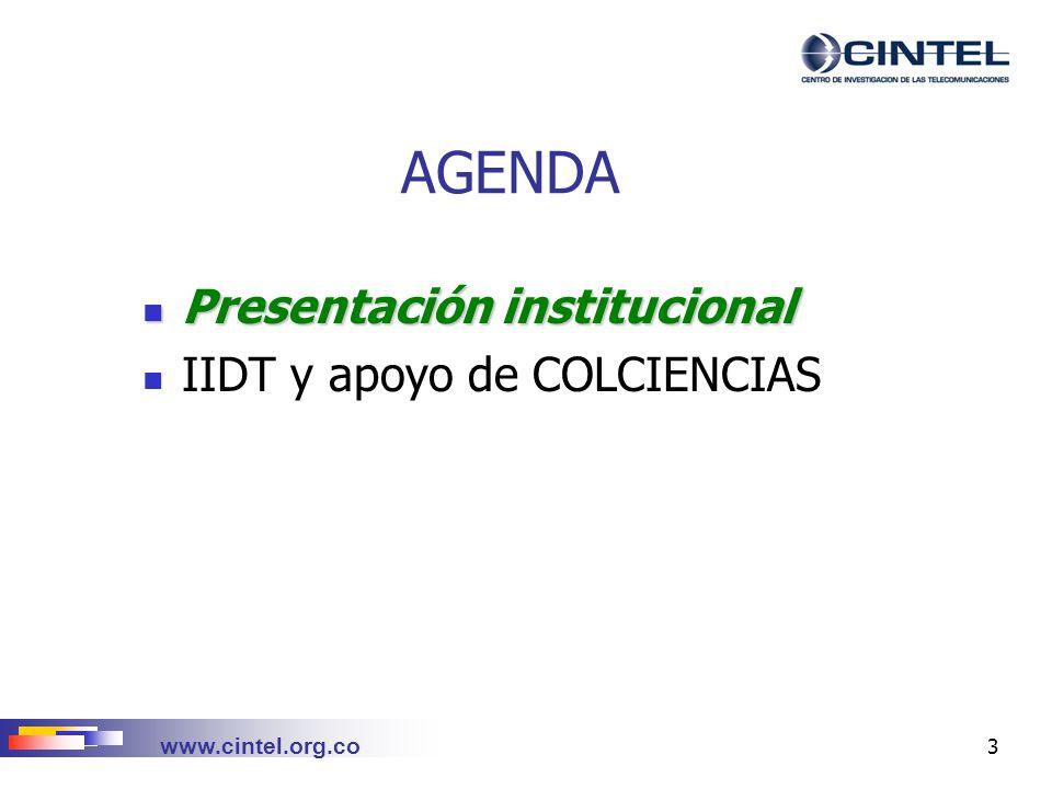 www.cintel.org.co 14 CONTENIDO Quiénes somos.Líneas de acción Cómo lo hacemos.