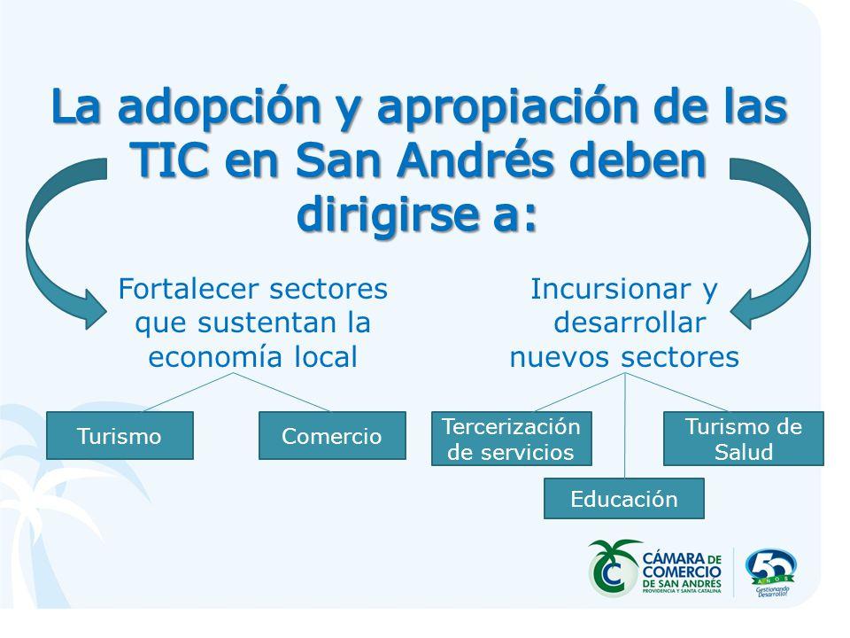 Fortalecer sectores que sustentan la economía local Incursionar y desarrollar nuevos sectores TurismoComercio Tercerización de servicios Turismo de Sa