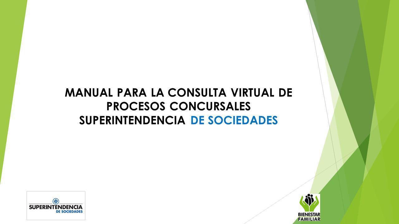 MANUAL PARA LA CONSULTA VIRTUAL DE PROCESOS CONCURSALES SUPERINTENDENCIA DE SOCIEDADES