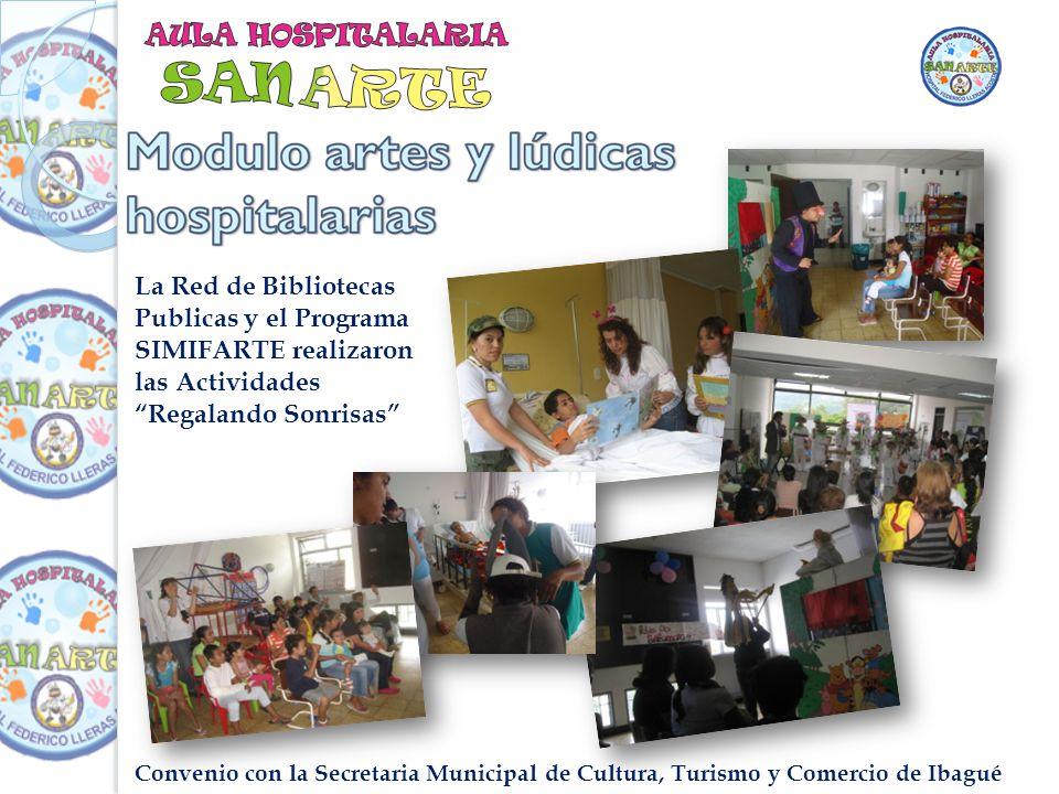 Convenio con la Secretaria Municipal de Cultura, Turismo y Comercio de Ibagué La Red de Bibliotecas Publicas y el Programa SIMIFARTE realizaron las Actividades Regalando Sonrisas