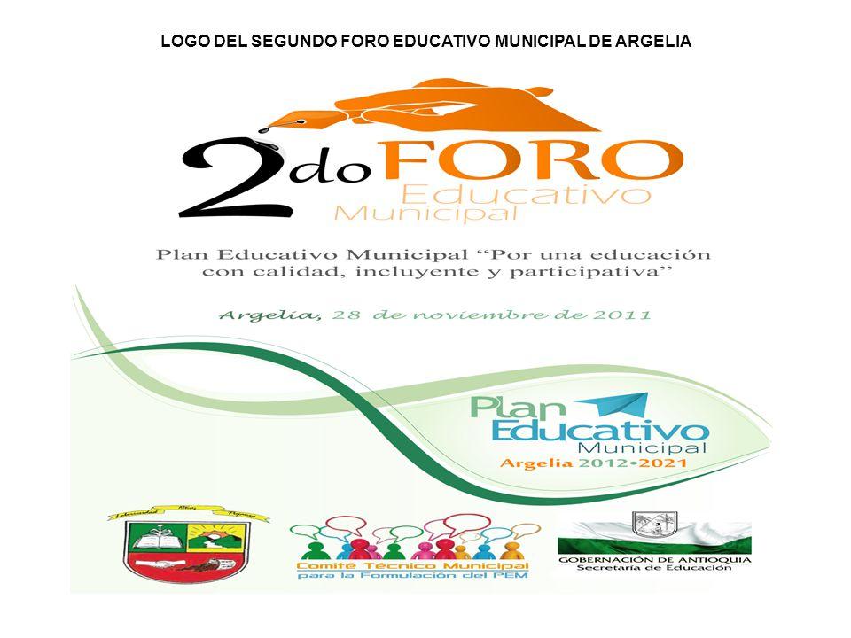 LOGO DEL SEGUNDO FORO EDUCATIVO MUNICIPAL DE ARGELIA