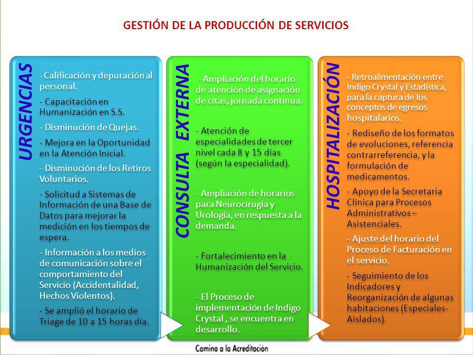 URGENCIAS - Calificación y depuración al personal.
