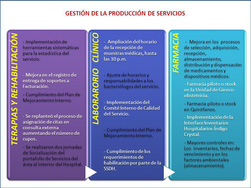 TERAPIAS Y REHABILITACIÓN - Implementación de herramientas sistemáticas para la estadística del servicio.