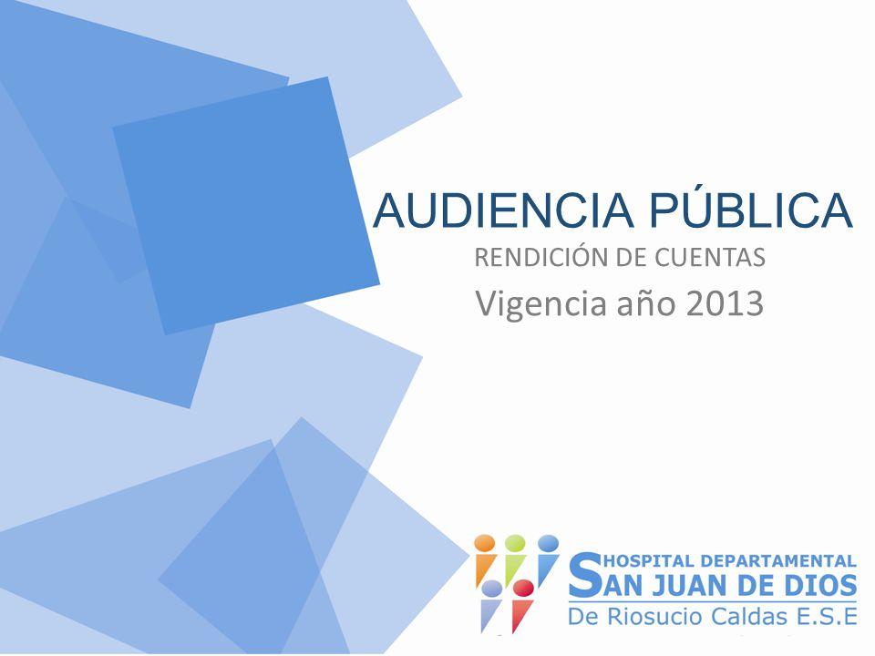 AUDIENCIA PÚBLICA RENDICIÓN DE CUENTAS Vigencia año 2013