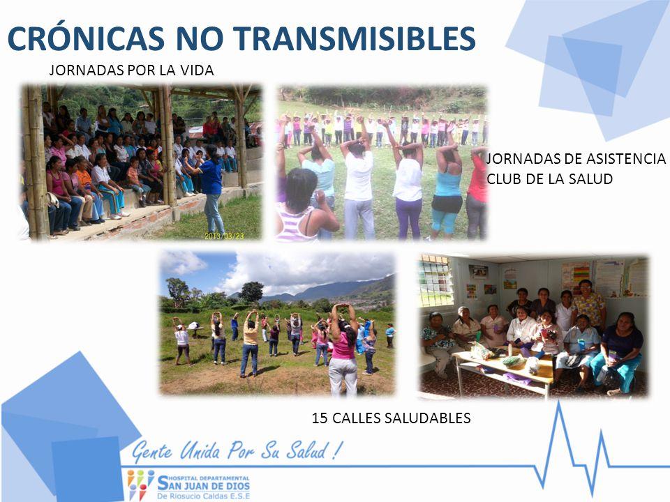CRÓNICAS NO TRANSMISIBLES JORNADAS POR LA VIDA JORNADAS DE ASISTENCIA CLUB DE LA SALUD 15 CALLES SALUDABLES