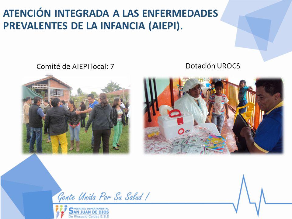 ATENCIÓN INTEGRADA A LAS ENFERMEDADES PREVALENTES DE LA INFANCIA (AIEPI). Comité de AIEPI local: 7 Dotación UROCS