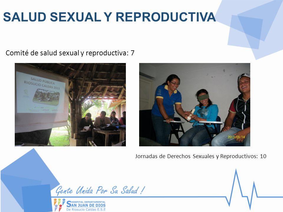 SALUD SEXUAL Y REPRODUCTIVA Comité de salud sexual y reproductiva: 7 Jornadas de Derechos Sexuales y Reproductivos: 10