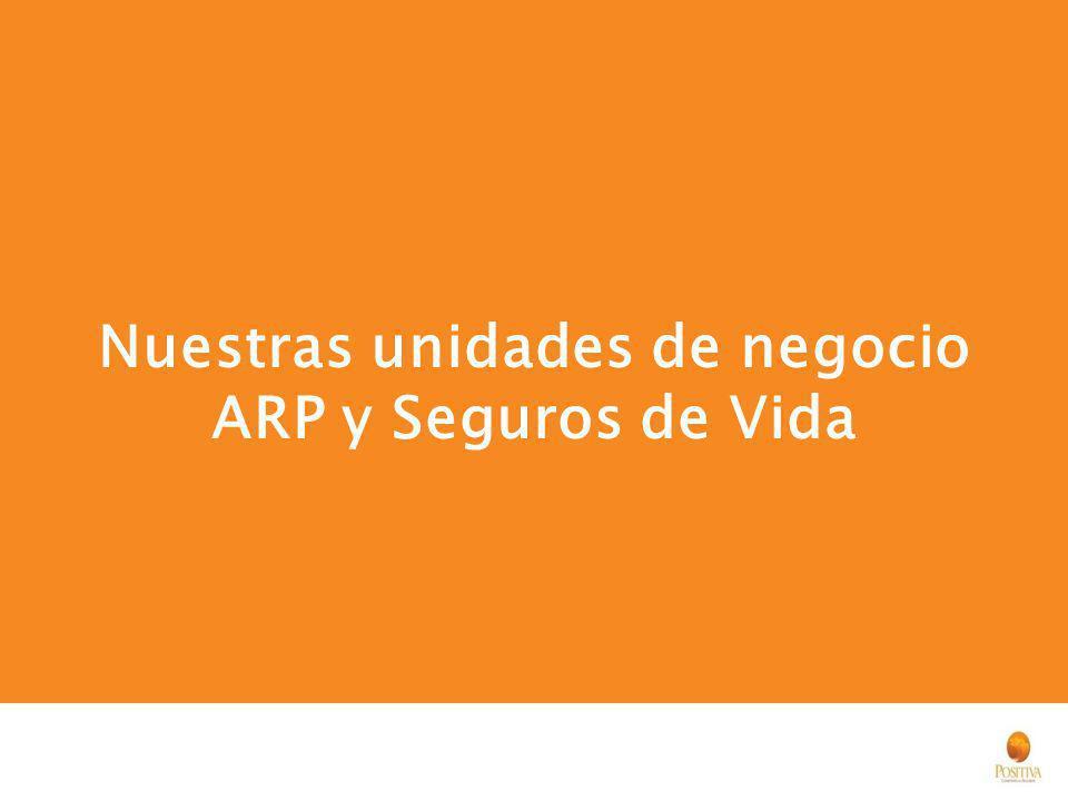 Nuestras unidades de negocio ARP y Seguros de Vida