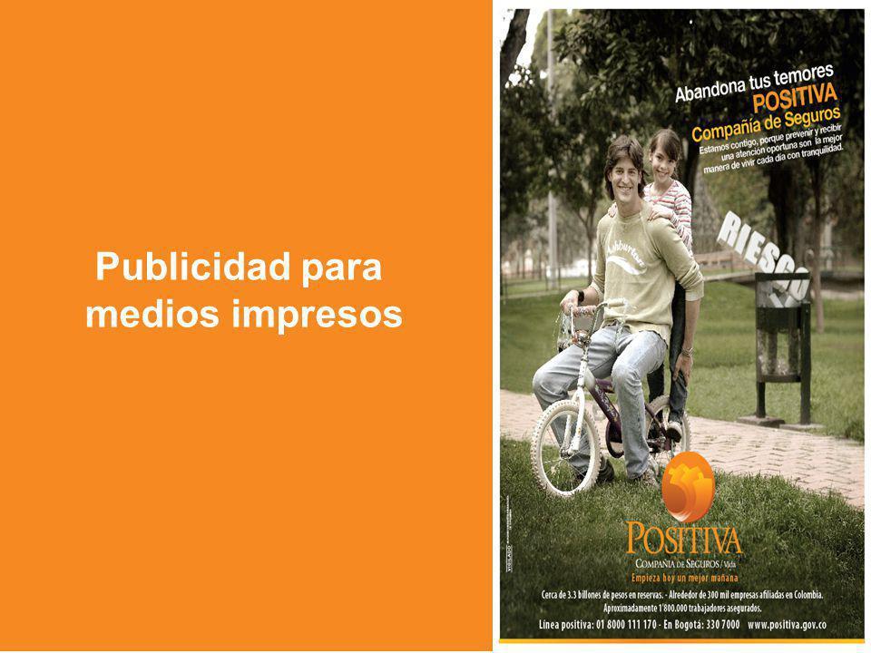 Publicidad para medios impresos