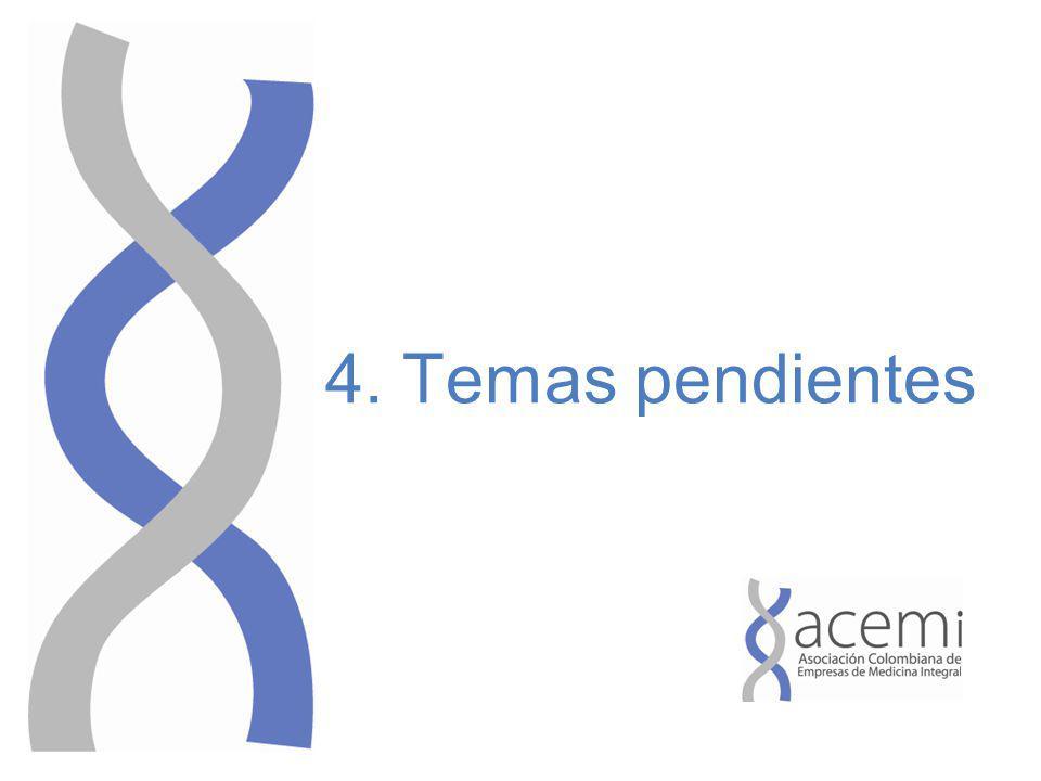 4. Temas pendientes