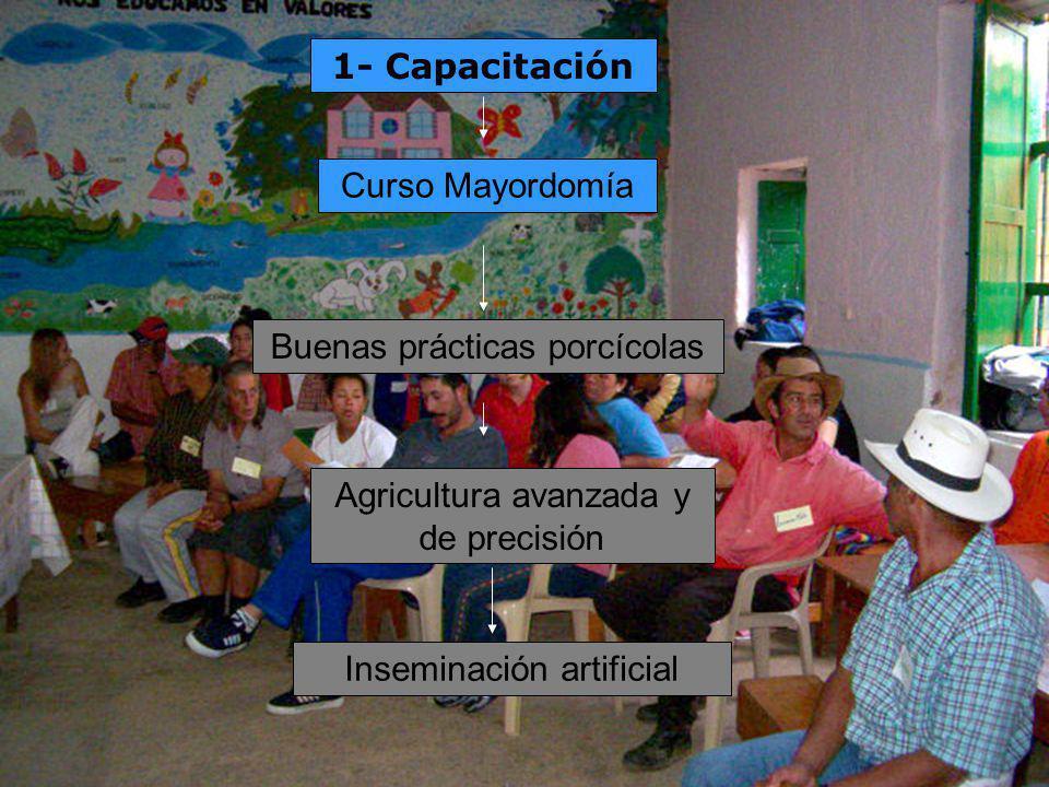1- Capacitación Inseminación artificial Curso Mayordomía Buenas prácticas porcícolas Agricultura avanzada y de precisión