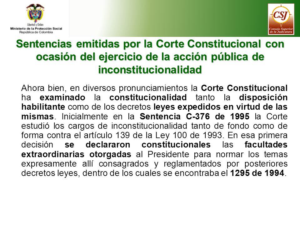 Jurisprudencia constitucional Sentencias emitidas por la Corte Constitucional con ocasión del ejercicio de la acción de tutela