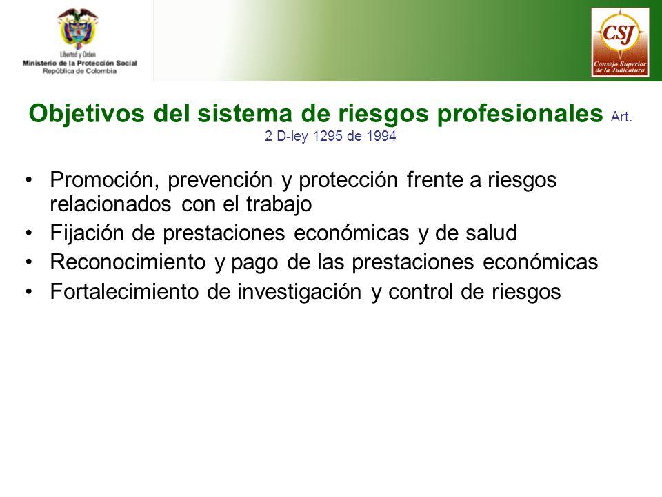Objetivos del sistema de riesgos profesionales Art.