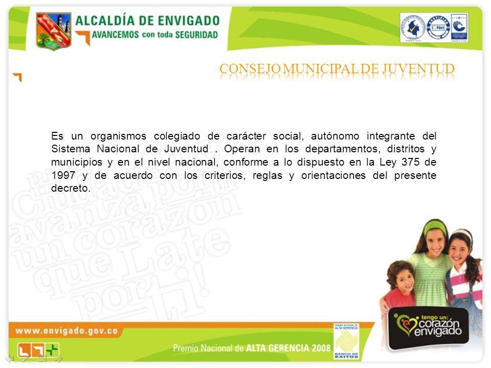 Es un organismos colegiado de carácter social, autónomo integrante del Sistema Nacional de Juventud. Operan en los departamentos, distritos y municipi