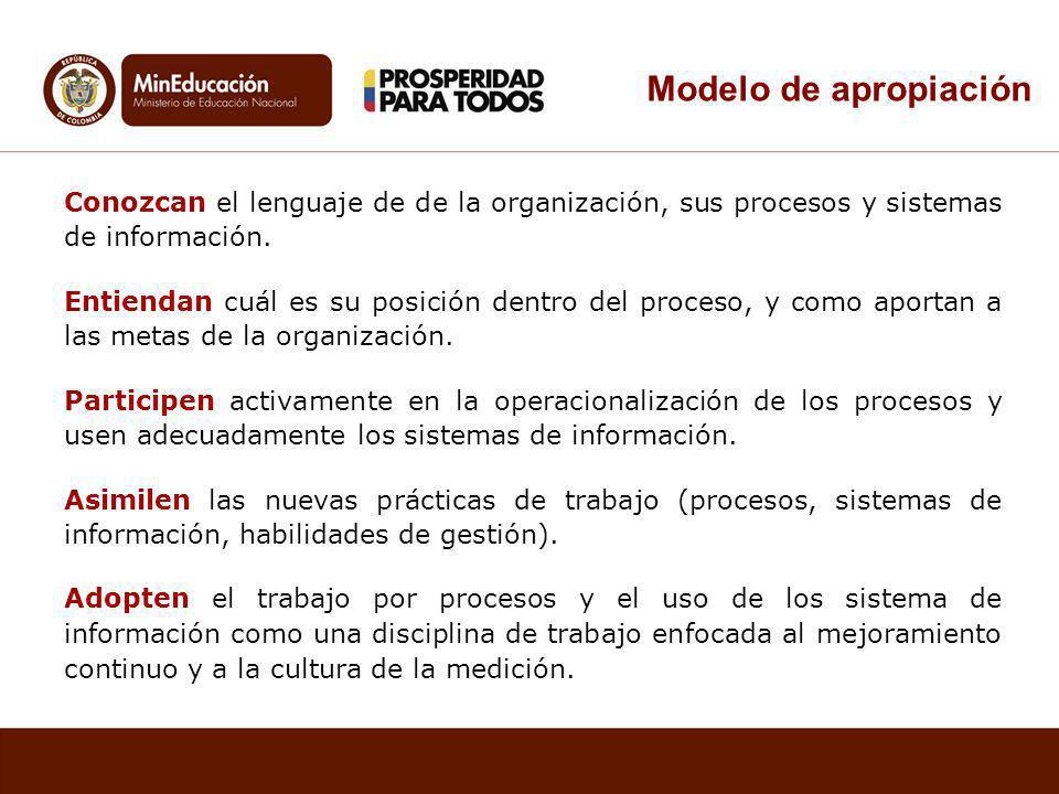 Conozcan el lenguaje de de la organización, sus procesos y sistemas de información.