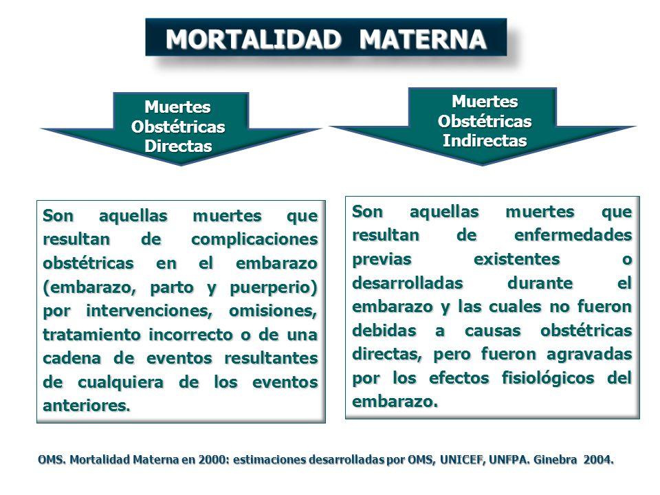 Son aquellas muertes que resultan de enfermedades previas existentes o desarrolladas durante el embarazo y las cuales no fueron debidas a causas obsté