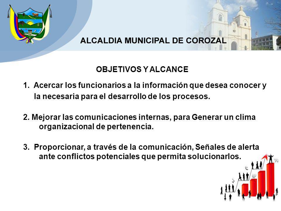 4.Transmitir la cultura corporativa de la Alcaldía Municipal de Corozal.