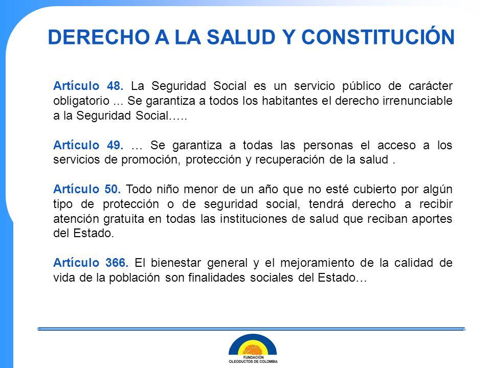 Artículo 48. La Seguridad Social es un servicio público de carácter obligatorio... Se garantiza a todos los habitantes el derecho irrenunciable a la S