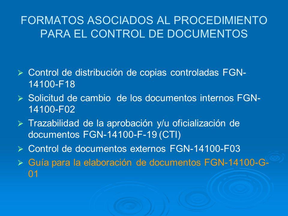 Requisito 4.2.3 Control de los Documentos Controlar los documentos del Sistema de Gestión de la calidad Procedimiento documentado para: Disponer de lo