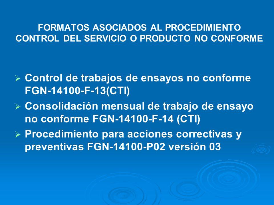 PROCEDIMIENTO CONTROL DEL SERVICIO O PRODUCTO NO CONFORME IDENTIFICAR DEFINIR ACCIONES PARA ELIMINAR REGISTRO LA NO CONFIRMIDAD CONTROLAR AUTORIZAR US