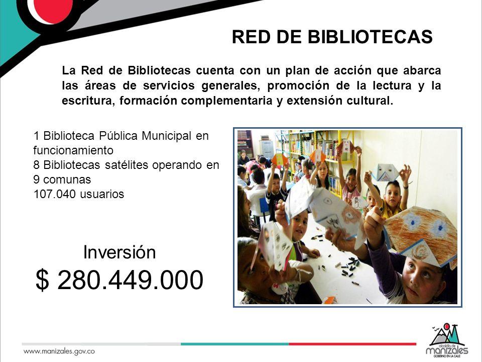 RED DE BIBLIOTECAS 1 Biblioteca Pública Municipal en funcionamiento 8 Bibliotecas satélites operando en 9 comunas 107.040 usuarios Se.
