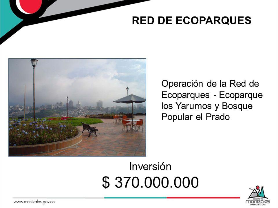 RED DE ECOPARQUES Operación de la Red de Ecoparques - Ecoparque los Yarumos y Bosque Popular el Prado Se.