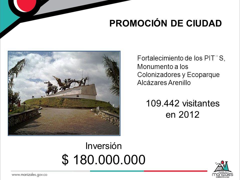 PROMOCIÓN DE CIUDAD Fortalecimiento de los PIT¨S, Monumento a los Colonizadores y Ecoparque Alcázares Arenillo Se.