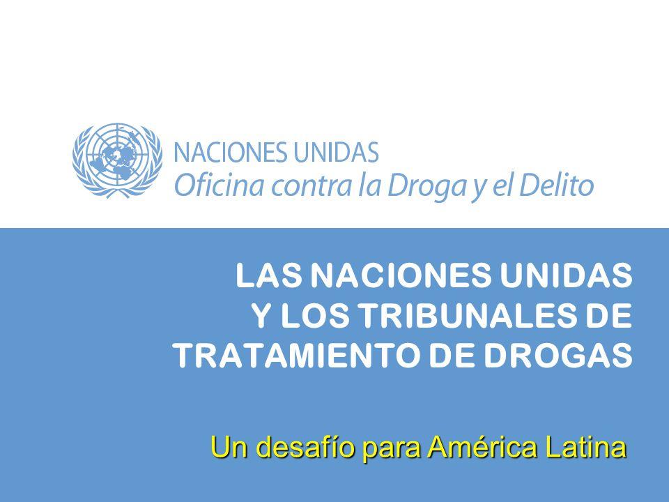 LAS NACIONES UNIDAS Y LOS TRIBUNALES DE TRATAMIENTO DE DROGAS Un desafío para América Latina