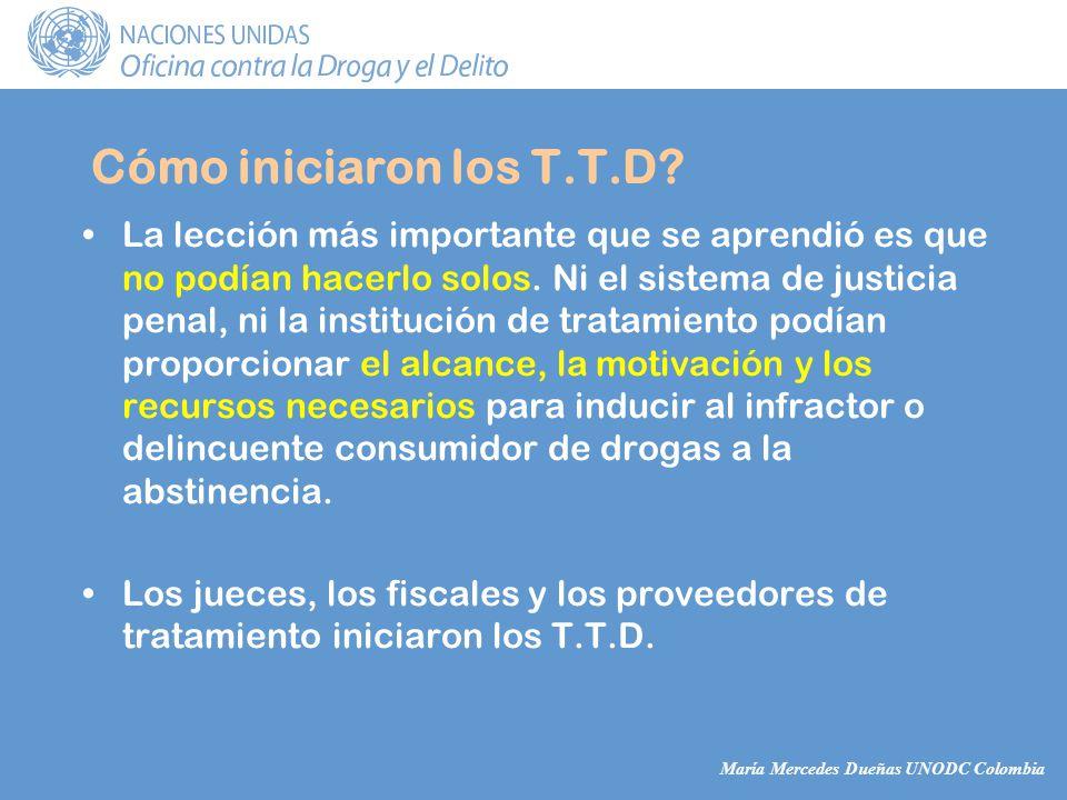 María Mercedes Dueñas UNODC Colombia La lección más importante que se aprendió es que no podían hacerlo solos.