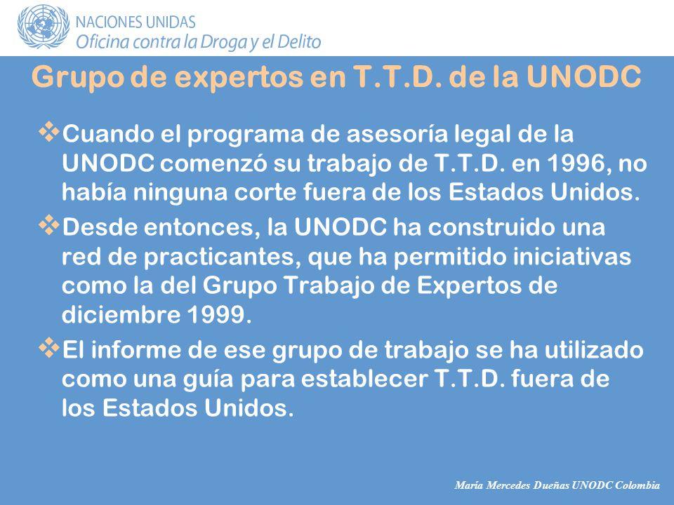 María Mercedes Dueñas UNODC Colombia Grupo de expertos en T.T.D.