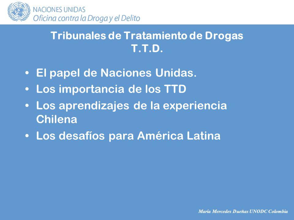 María Mercedes Dueñas UNODC Colombia El papel de Naciones Unidas.