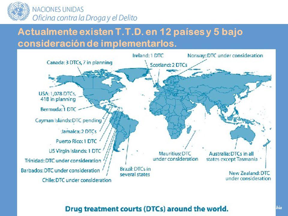María Mercedes Dueñas UNODC Colombia Actualmente existen T.T.D.
