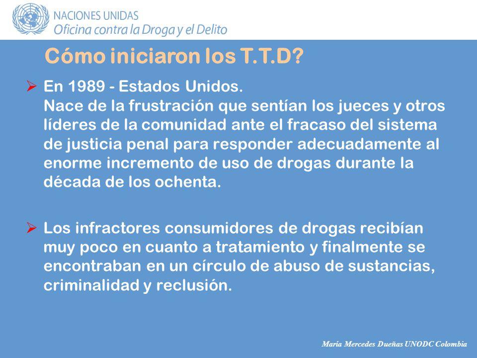 María Mercedes Dueñas UNODC Colombia En 1989 - Estados Unidos.