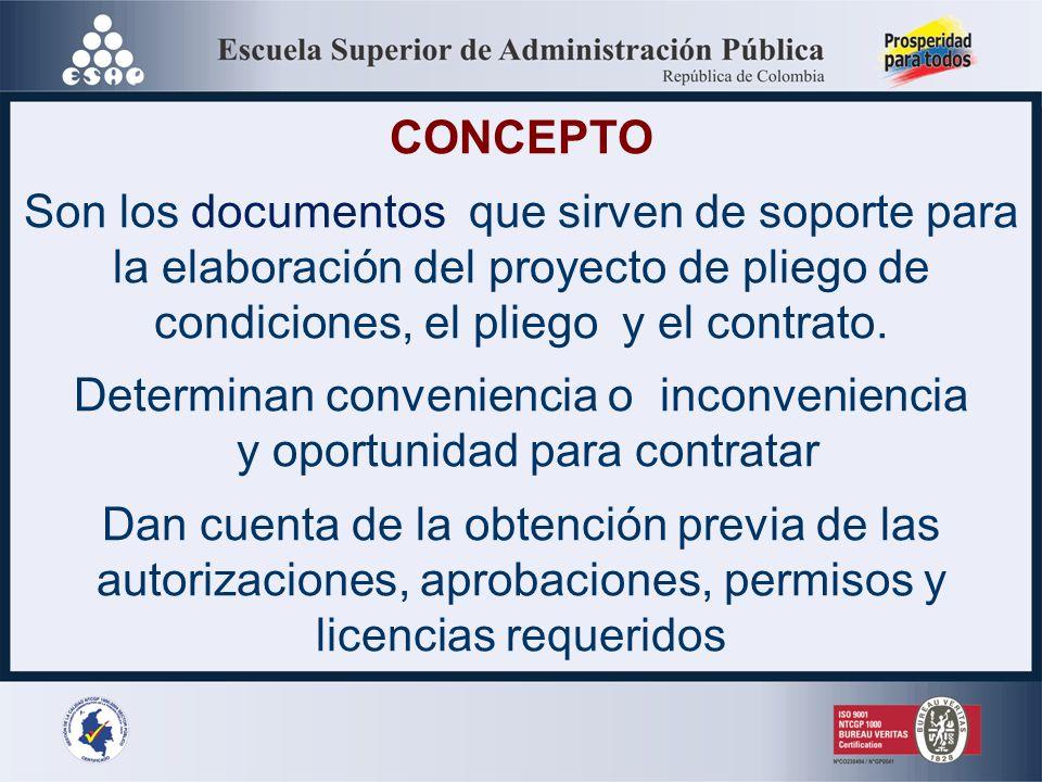 ESTUDIOS Y DOCUMENTOSPREVIOS Ley 80 de 1993 # 12 (Modificado artículo 87 Ley 1474 de 2011) Artículo 20 del Decreto 1510 de 2013