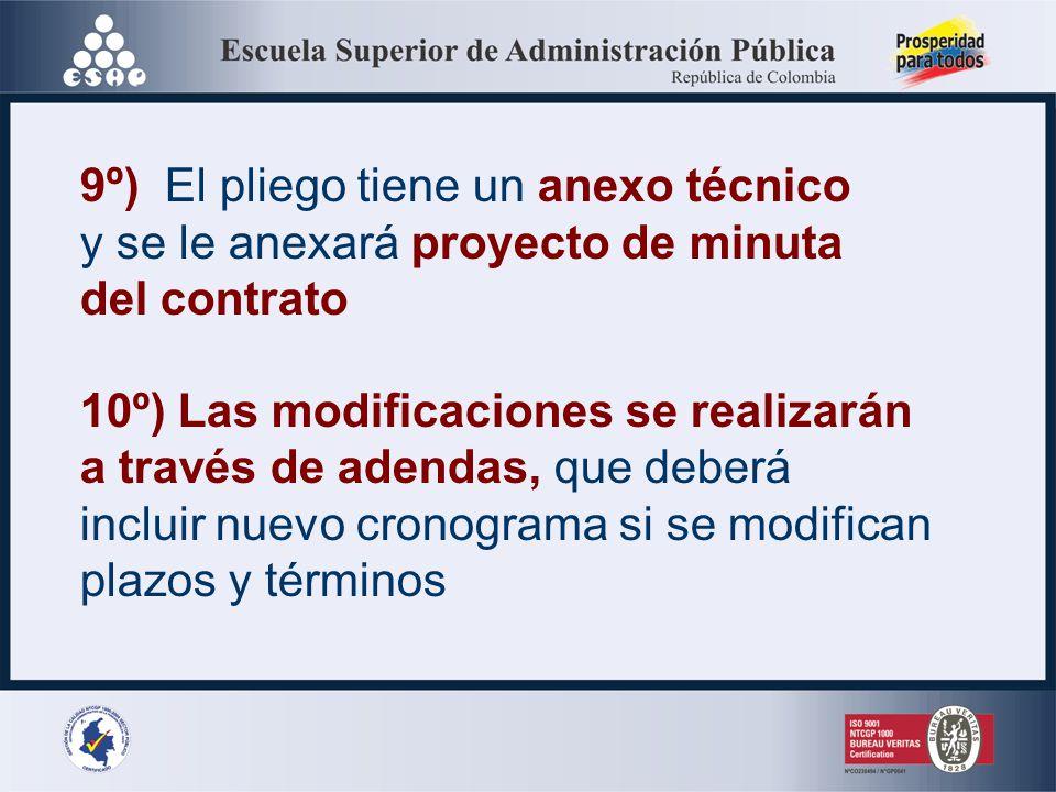 8º) Son ineficaces de pleno derecho de las estipulaciones que en los pliegos o contratos contravengan estas disposiciones o dispongan renuncias a recl