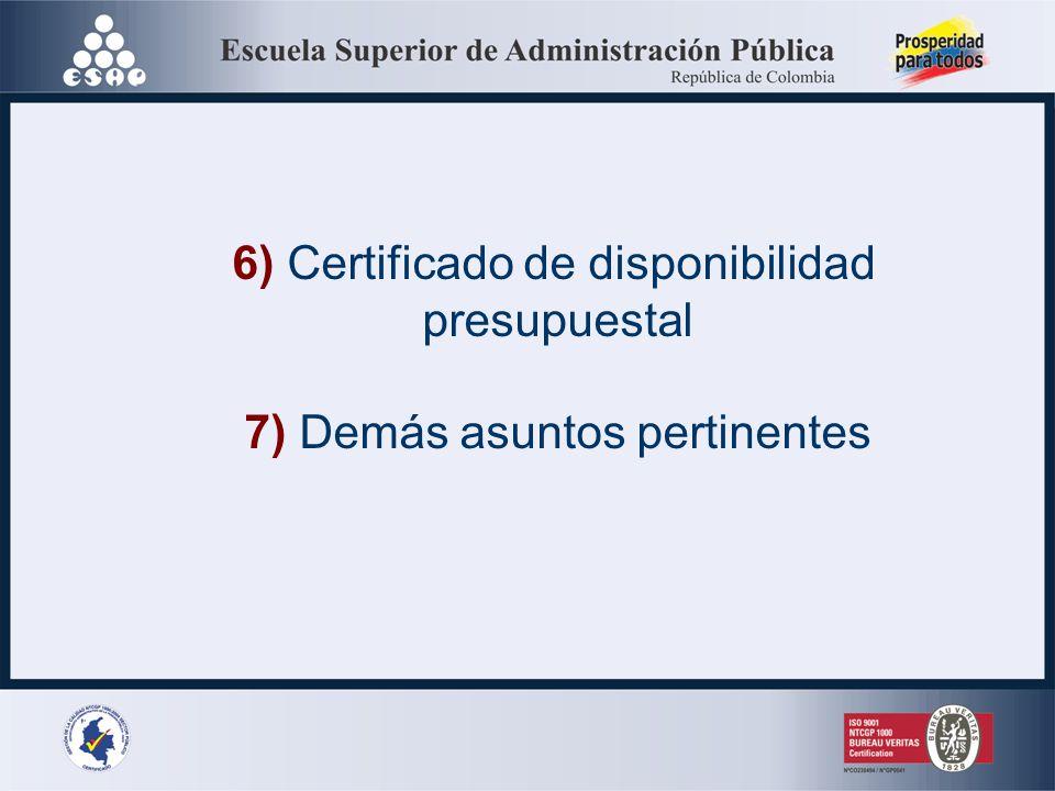 4) Lugar (físico o electrónico) donde se pueden consultar y retirar el pliego y los estudios y documentos 5) Convocatoria a las veedurías