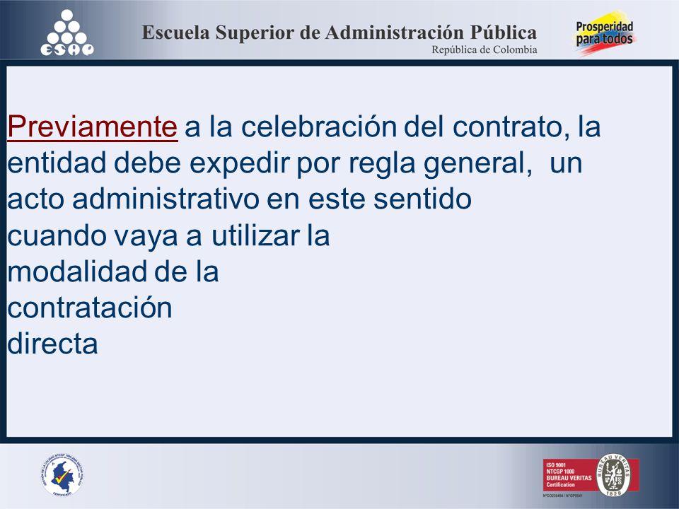 ACTO ADMINISTRATIVO DE JUSTIFICACION DE LA CONTRATACION DIRECTA