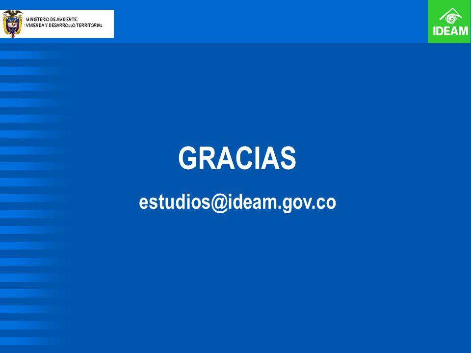 GRACIAS estudios@ideam.gov.co
