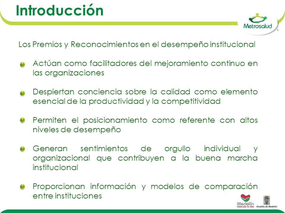 Los Premios y Reconocimientos en el desempeño institucional Actúan como facilitadores del mejoramiento continuo en las organizaciones Despiertan conci