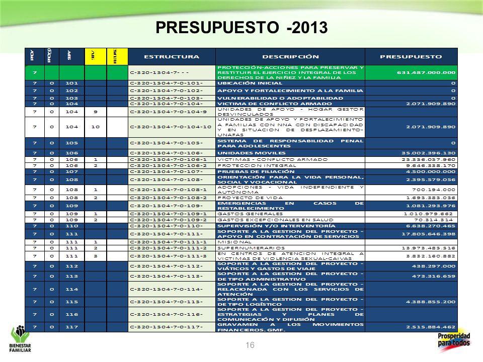 PRESUPUESTO -2013 16