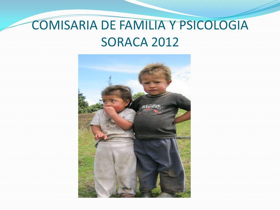 COMISARIA DE FAMILIA Y PSICOLOGIA SORACA 2012