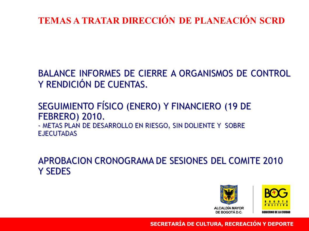 SEGUIMIENTO FINANCIERO 19 DE FEBRERO Instituto Distrital de Patrimonio Cultural IDPC