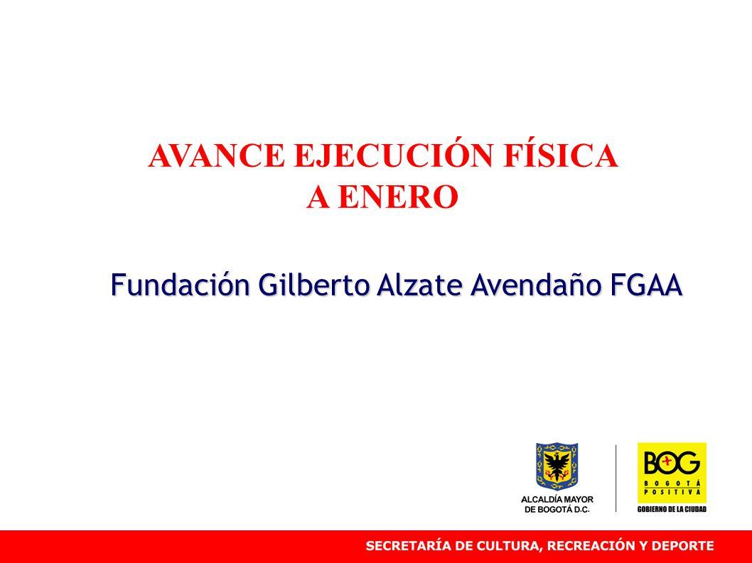 AVANCE EJECUCIÓN FÍSICA A ENERO Fundación Gilberto Alzate Avendaño FGAA