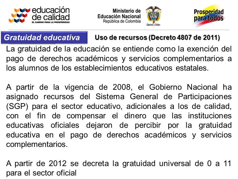 Gratuidad La gratuidad de la educación se entiende como la exención del pago de derechos académicos y servicios complementarios a los alumnos de los e