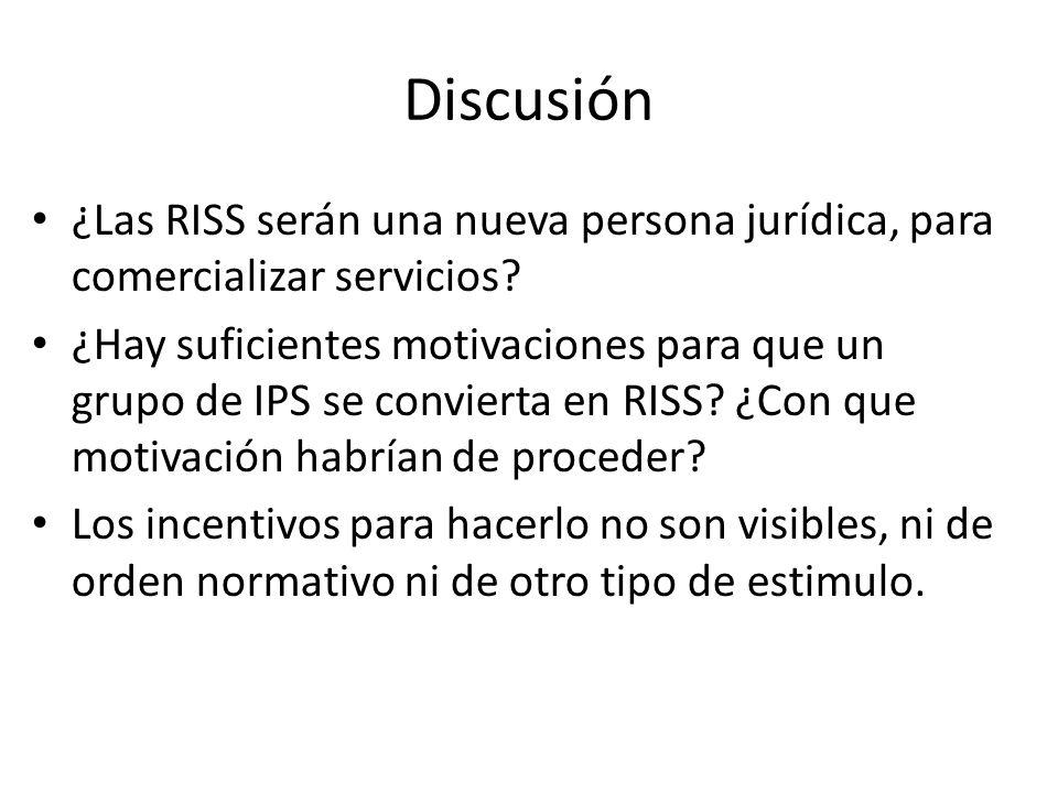 Discusión La obligación de las EPS por conformar redes, para proveer servicios de salud a sus usuarios, sigue viva Las redes de prestadores, conformadas por cada EPS, deberán reemplazarse por las nuevas RISS.