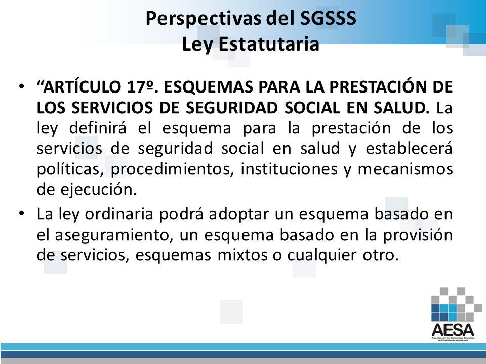 Perspectivas del SGSSS Aviso ARTÍCULO 23°.