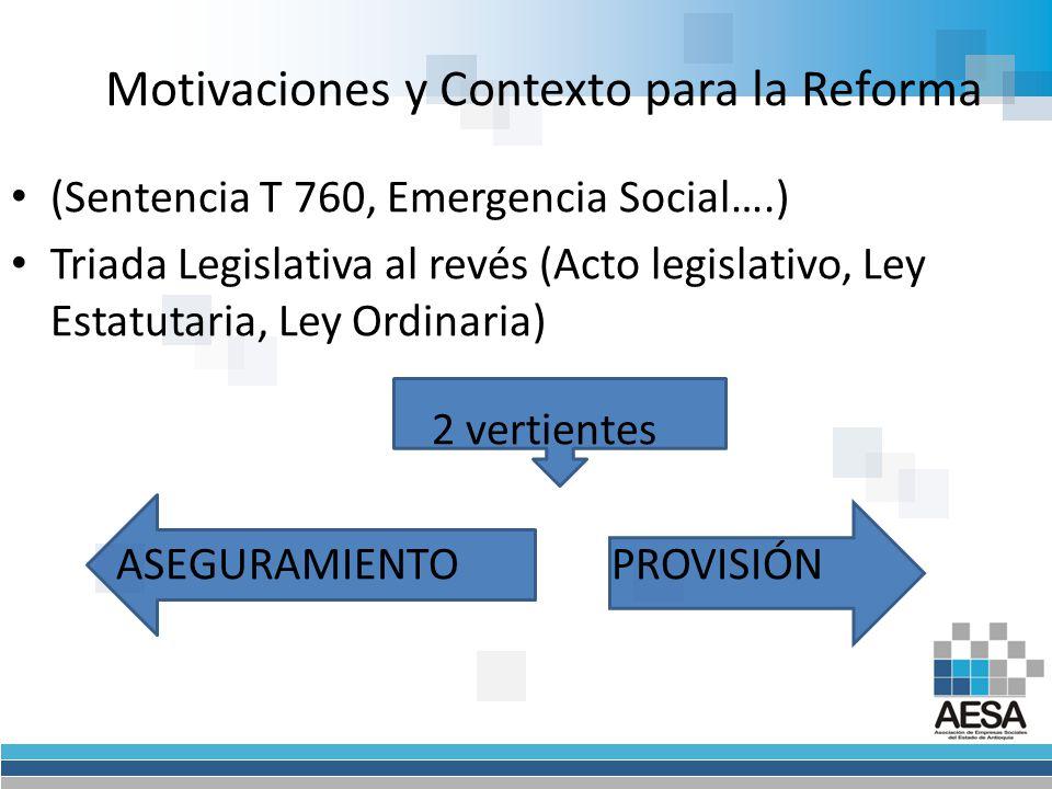 Perspectivas del SGSSS Ley Estatutaria ARTÍCULO 22º.