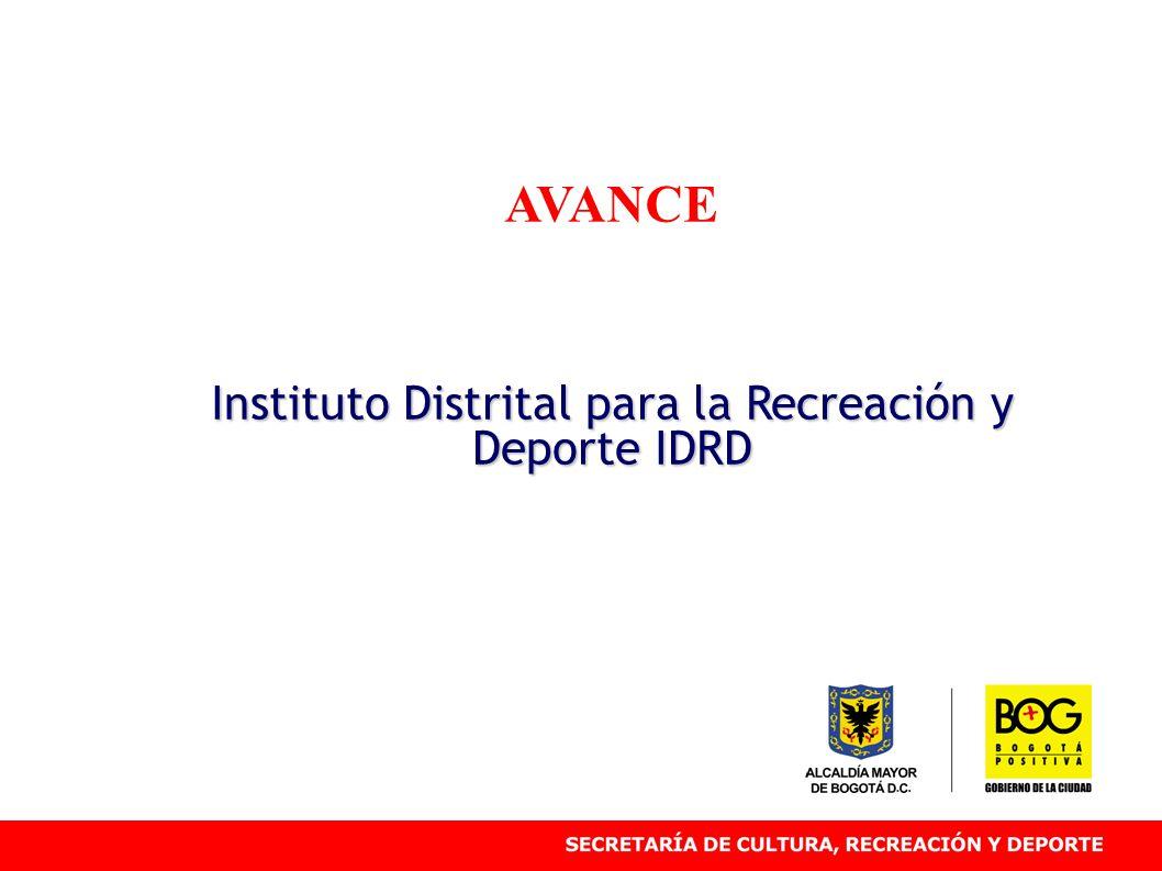 AVANCE Instituto Distrital para la Recreación y Deporte IDRD