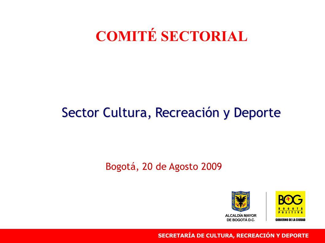 COMITÉ SECTORIAL Sector Cultura, Recreación y Deporte Bogotá, 20 de Agosto 2009